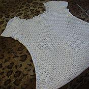 Одежда ручной работы. Ярмарка Мастеров - ручная работа Туника белая летняя. Handmade.