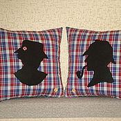 """Для дома и интерьера ручной работы. Ярмарка Мастеров - ручная работа Комплект из двух подушек  """" Шерлок и Марпл"""". Handmade."""