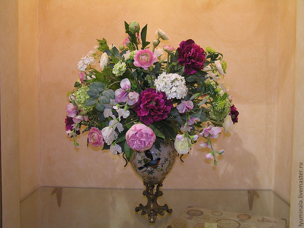 Цветы искусственные в вазу своими руками