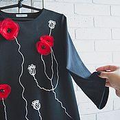 Одежда handmade. Livemaster - original item black dress Maki. Handmade.