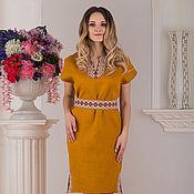 Одежда handmade. Livemaster - original item Linen dress Byzantium. Handmade.