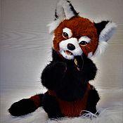 Тедди Зверята ручной работы. Ярмарка Мастеров - ручная работа Тедди Зверята: красная панда. Handmade.