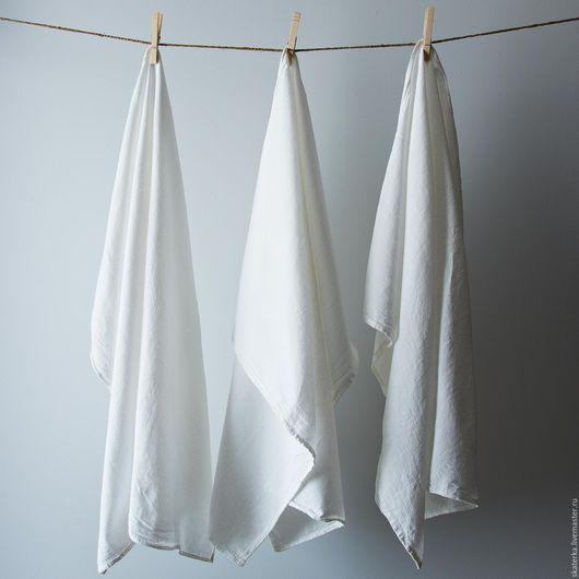 Кухня ручной работы. Ярмарка Мастеров - ручная работа. Купить Полотенце кухонное. Handmade. Белый, лен, для кухни, столовый текстиль