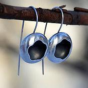 Earrings handmade. Livemaster - original item Lunar Eclipse earrings (925 silver). Handmade.