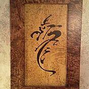 Картины и панно ручной работы. Ярмарка Мастеров - ручная работа иероглиф силы и могущества. Handmade.
