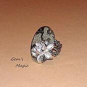 Украшения handmade. Livemaster - original item Ring with Ammonite