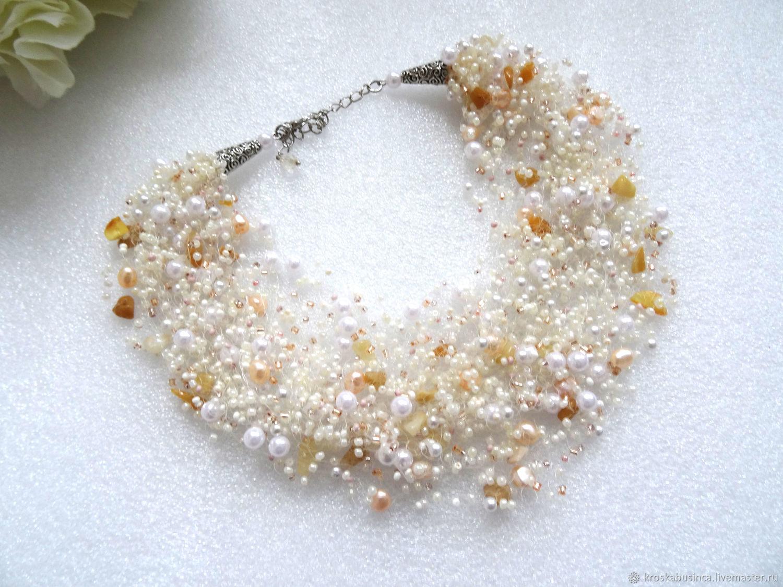 8cd61ac5d1a85 Necklaces & Beads handmade. Livemaster - handmade. Buy Beads necklace from  beads 'Gentle ...