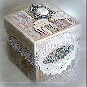 Подарки к праздникам ручной работы. Ярмарка Мастеров - ручная работа Шебби-коробочка для подарка. Handmade.
