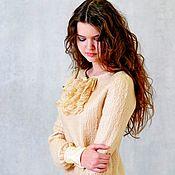 Одежда handmade. Livemaster - original item felt dress Caramel. Handmade.