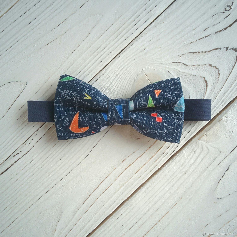 Галстуки, бабочки ручной работы. Ярмарка Мастеров - ручная работа. Купить галстук бабочка с принтом математика. Бабочки на шею детские и взрослые.
