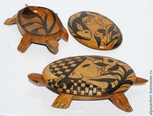 Декоративная посуда ручной работы. Ярмарка Мастеров - ручная работа. Купить Тарелка-черепаха, вырезанная из дерева. Handmade. Коричневый, черепаха