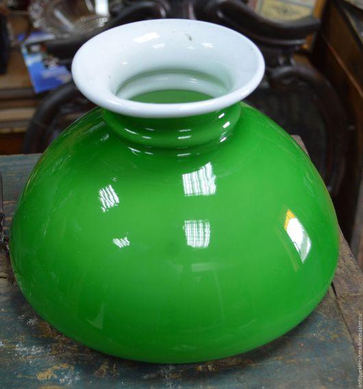 Винтажные предметы интерьера. Ярмарка Мастеров - ручная работа. Купить Зелёный плафон для керосиновой лампы до 1917 года ОРИГИНАЛ. Handmade.
