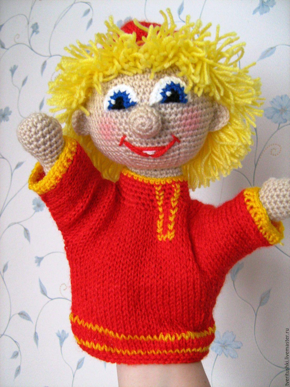 Связать куклу на руку крючком схемы
