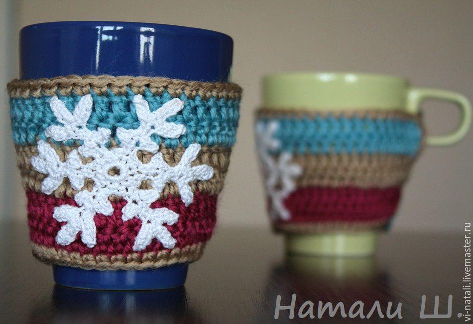 Грелки для кружки 2шт Снежинка 2, Подарки, Химки, Фото №1