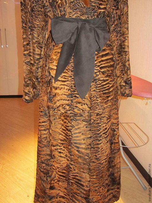 Верхняя одежда ручной работы. Ярмарка Мастеров - ручная работа. Купить Английское пальто из каракуля СВАКАРА. Handmade. Коричневый, каракуль