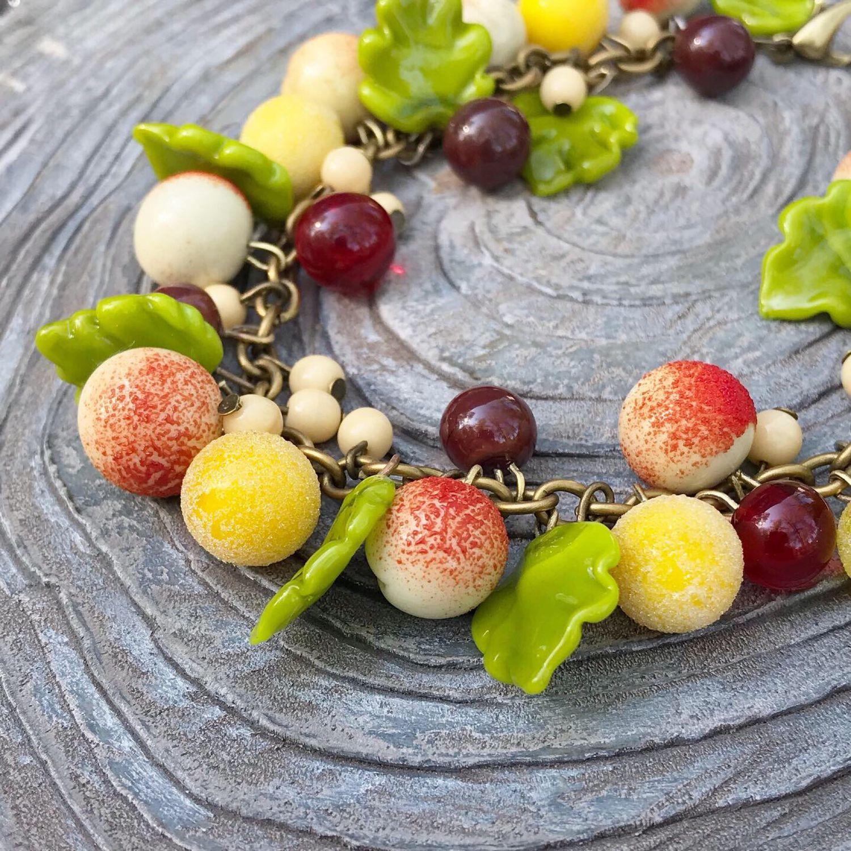 Браслет «Яблочки», Браслет из бусин, Светлогорск,  Фото №1