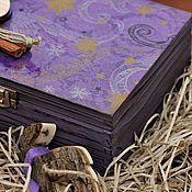 """Для дома и интерьера ручной работы. Ярмарка Мастеров - ручная работа Шкатулка """"Фиолетовая вьюга"""". Handmade."""