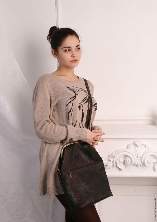 Женские сумки ручной работы. Кожаная сумка