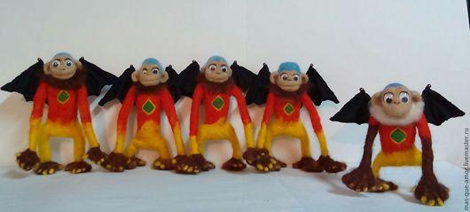 Игрушки животные, ручной работы. Ярмарка Мастеров - ручная работа. Купить обезьяна)). Handmade. Желтый цвет, шерсть меринос