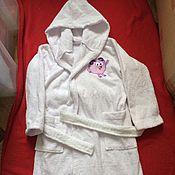 Одежда ручной работы. Ярмарка Мастеров - ручная работа Детские банные махровые халаты. Handmade.