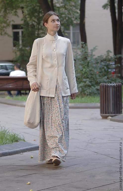 Пиджаки, жакеты ручной работы. Ярмарка Мастеров - ручная работа. Купить Жакет из льна. Handmade. Белый, жакет, летний жакет