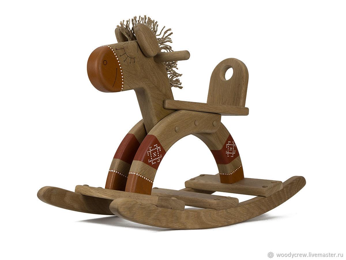 Детская лошадка-качалка Nancy из массива дуба, Игрушки-каталки, Нижний Новгород,  Фото №1