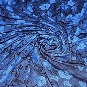 """Материалы для творчества ручной работы. Ярмарка Мастеров - ручная работа Трикотаж жаккард """"Синий"""" остаток 1,3 метра. Handmade."""
