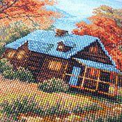 """Картины и панно ручной работы. Ярмарка Мастеров - ручная работа Картина """"Загородный пейзаж. Осень"""". Handmade."""