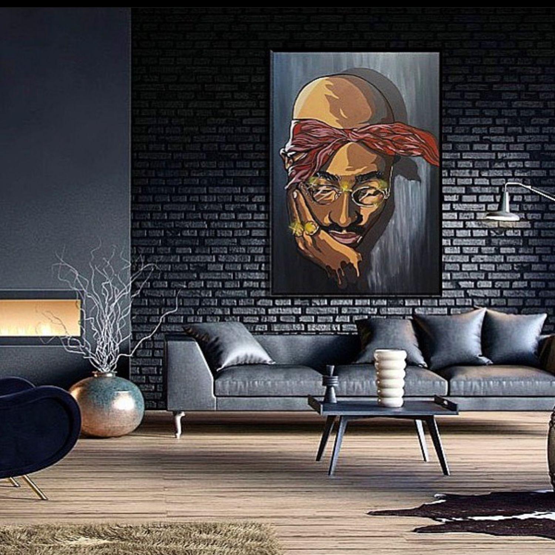 Стилизованный портрет «тупак», Картины, Ростов-на-Дону,  Фото №1