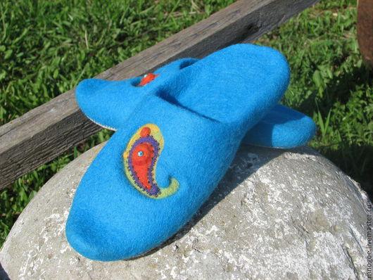 """Обувь ручной работы. Ярмарка Мастеров - ручная работа. Купить """"Бирюзовая сказка"""". Handmade. Бирюзовый, натуральные материалы, 100% шерсть"""