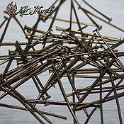 Материалы для творчества handmade. Livemaster - original item Pina-plated bronze, 30h0,8 mm (50 pieces). Handmade.