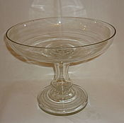 Винтаж handmade. Livemaster - original item The VASE ON the LEG 20,2 cm. COLORLESS GLASS Late 19th century, the MALTSOV Large. Handmade.