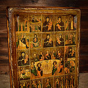 Картины и панно handmade. Livemaster - original item The last SUPPER with selected saints and images of the mother of God. 19vv.. Handmade.