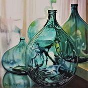 Картины и панно handmade. Livemaster - original item Pattern: Emerald glass.. Handmade.