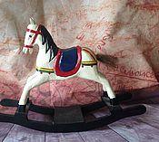 Винтаж ручной работы. Ярмарка Мастеров - ручная работа Деревянная лошадка. Handmade.