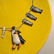 """Колье ручной работы. Ярмарка Мастеров - ручная работа Ожерелье из дерева """"Голодный пингвин"""". Handmade."""