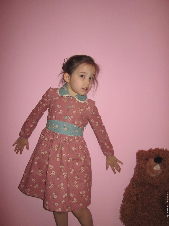 Corduroy dress ' wild flower. ', Dresses, Voskresensk,  Фото №1