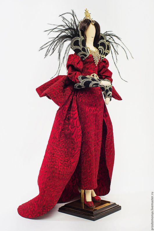 """Коллекционные куклы ручной работы. Ярмарка Мастеров - ручная работа. Купить """"Оперная дива"""". Handmade. Бордовый"""