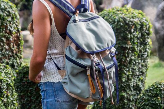 Рюкзаки ручной работы. Ярмарка Мастеров - ручная работа. Купить Мужской ( женский ) рюкзак из влагоустойчивого износостойкого канваса. Handmade.