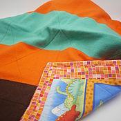 Детское одеяло на подкладе(двустороннее стеганое одеяло) с динозаврами