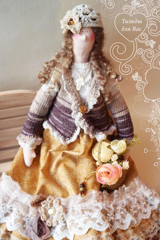 Куклы Тильды ручной работы. Ярмарка Мастеров - ручная работа. Купить Тильда:  Леди Эмили интерьерная текстильная кукла. Handmade.
