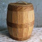 Для дома и интерьера handmade. Livemaster - original item barrel made of birch bark. Handmade.
