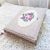 """Блокноты ручной работы. Ярмарка Мастеров - ручная работа Блокнот ручной работы """"Три розы. Розовые"""". Handmade."""