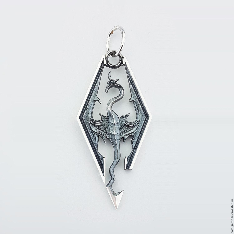 The Elder Scrolls V: Skyrim silver 925 pendant Skyrim Dragon – shop online  on Livemaster with shipping - 6QMVPCOM | Kharkiv