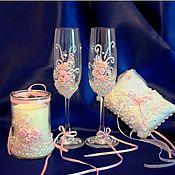 """Свадебный салон ручной работы. Ярмарка Мастеров - ручная работа Комплект """"Нежность розового цвета"""". Handmade."""