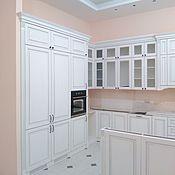 Для дома и интерьера ручной работы. Ярмарка Мастеров - ручная работа Кухня белая классическая из дуба на заказ. Handmade.