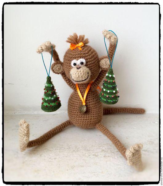 Игрушки животные, ручной работы. Ярмарка Мастеров - ручная работа. Купить Обезьянка Зазя вязаная - символ 2016 года. Handmade.