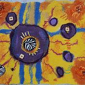 Картины и панно ручной работы. Ярмарка Мастеров - ручная работа Войлочное панно .Четыре стороны света. Handmade.