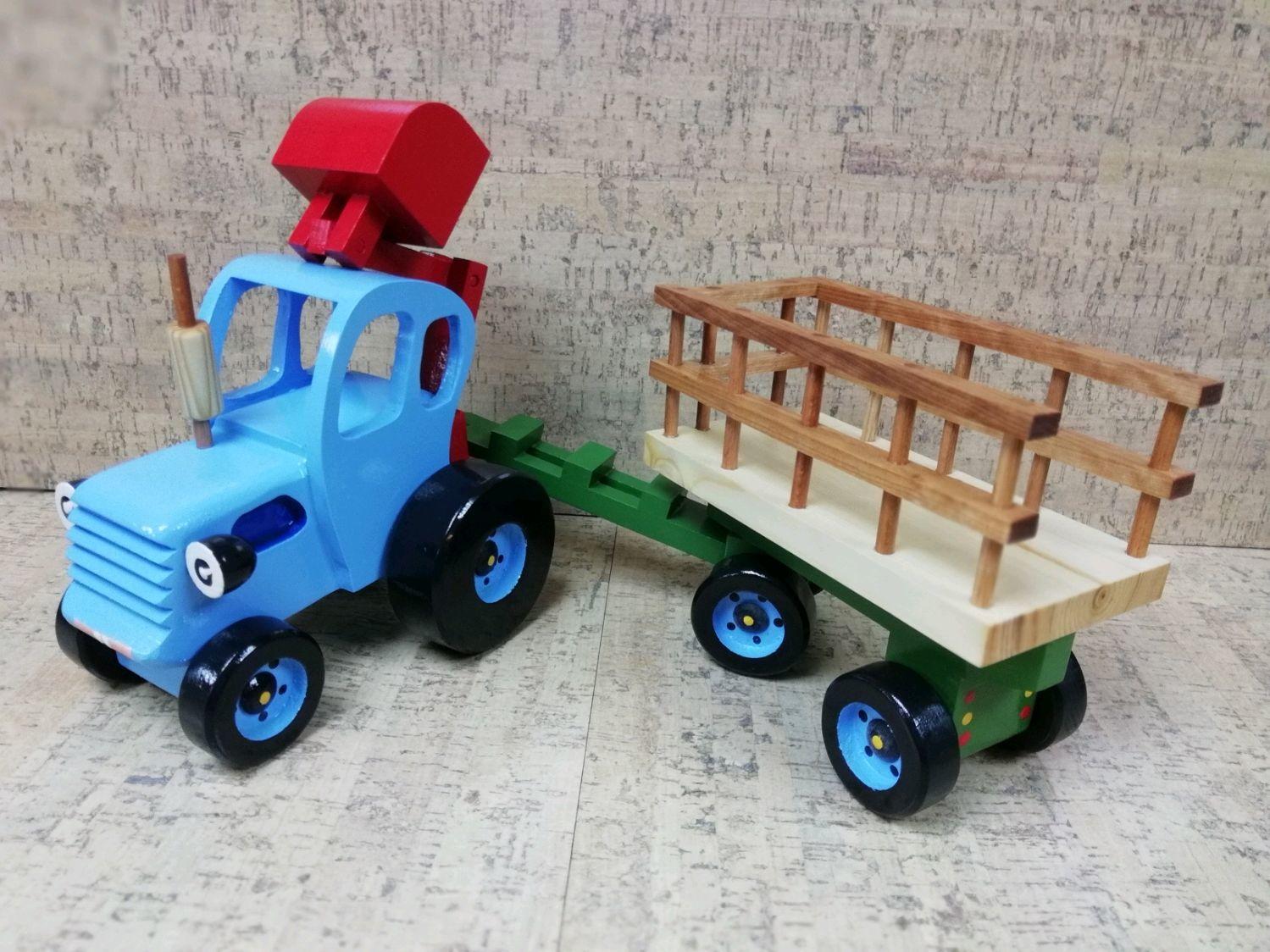 Синий трактор с ковшом, Игрушки, Самара, Фото №1