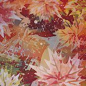 Картины и панно ручной работы. Ярмарка Мастеров - ручная работа Панно  осень - батик. Handmade.